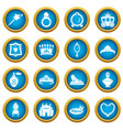 princess doll icons set simple style vector image