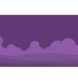 Purple hill for game vector image vector image