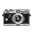 retro photo camera vintage object isolated vector image