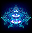 sacred geometry symbol with all seeing eye over vector image vector image
