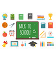 school supplies stationery equipment vector image vector image