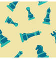 Seamless background with chess vector image vector image