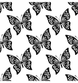 seamless pattern butterflies vector image