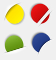 Set of colorful blank round labels in your pocket vector image vector image