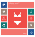 set of lingerie or swimsuit two-piece bikini the vector image