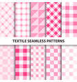 set of textile seamless patterns vector image