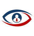 shield eye identification vector image