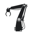silhouette industrial robot arm engine futuristic vector image vector image