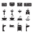 sink icon set vector image vector image