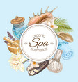 Spa round banner vector image vector image
