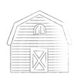 stable building isolated icon vector image vector image
