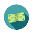 Stack of dollars Paper bills or money Icon in a vector image vector image