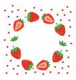 strawberries greeting card vector image