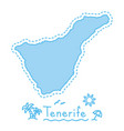 tenerife island map isolated cartography concept vector image vector image