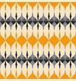 tile grey black and orange pattern vector image vector image