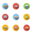 Transport icons set flat style vector image vector image