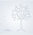 white science tree made connected lines vector image