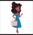 young woman cartoon character vector image vector image