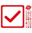 checkbox icon with valentine bonus