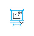 algebra lesson linear icon concept algebra lesson vector image vector image