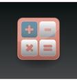 App icon calculator vector image vector image