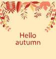 autumn leaves on a light brown background vector image vector image