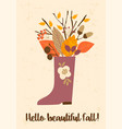autumn templates design for card poster vector image vector image
