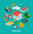 bank loans round composition vector image vector image
