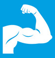 biceps icon white vector image vector image
