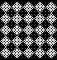 black and white seamless star pattern background vector image vector image