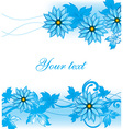 Blue Floral Background with Text Space vector image vector image