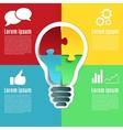 Bright idea creative conceptual infographics vector image