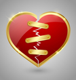 Broken and repaired heart icon vector image vector image