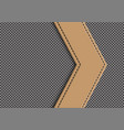 brown leather arrow on gray weave vector image
