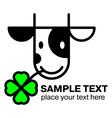 Cartoon cow head icon vector image vector image