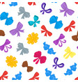 cartoon gift bows seamless pattern background vector image