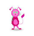 cartoon lilac brooding monster isolated on white vector image