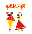 celebrate indian navratri festival poster design vector image vector image