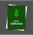 christmas tree with glowing star green christmas vector image