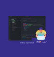 coding experience and software development vector image vector image