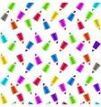 Colour pencils on white background vector image vector image