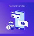 concepts mobile payments header for website vector image vector image
