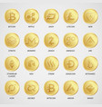 cryptocurrency business money bitcoin cash vector image vector image
