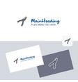 cutter logotype with business card template vector image vector image