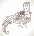 Fairy tale Russian fantastic woman bird vector image vector image