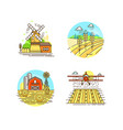 farming logo collection in line design farm vector image vector image