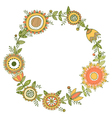 floral wreath decorative frame vector image vector image