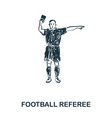 football referee icon mobile apps printing and vector image