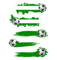 football soccer ball icon or banner vector image vector image