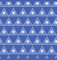 geometric seamless pattern in tribal style in blue vector image vector image